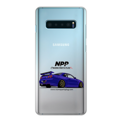 Midnight Purple R34 Back Printed Transparent Hard Phone Case