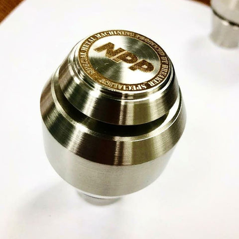 NPP x Breaker Spec Limted Edition Shift Knob (Raw Stainless Steel 303)
