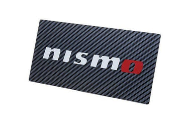 Nismo Authentic Carbon Vanity Plate