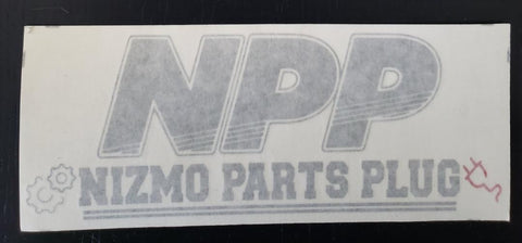 NPP Logo Decal ( Silver )