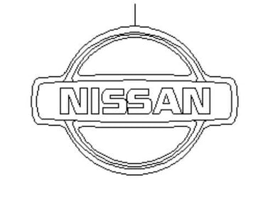 "R34 Skyline GT-R Early ""Nissan Logo ""Trunk Emblem"