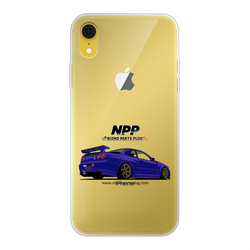 Midnight Purple R34 Back Printed Transparent Soft Phone Case