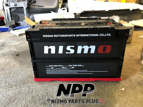 Nismo 50L Black Tote Collapsible Storage Box