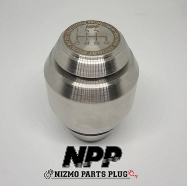 NPP X BREAKER SPEC BNR34 GTR RAW STAINLESS STEEL SHIFT KNOB