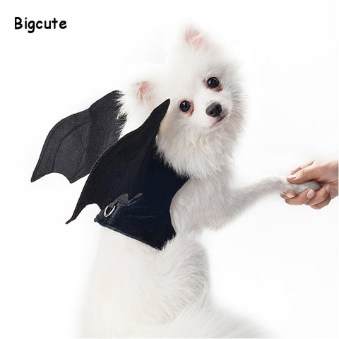 Image of Dog Clothes Halloween Bat Wings Costume For Small Dogs Clothing Christmas Pets Dog Coat Jackets Chihuahua Transform Costumes