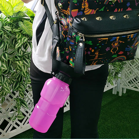Image of Pet Dog Drinking Water Bottle Sports Squeeze Type Puppy Cat Portable Travel Outdoor Feed Bowl Drinking Water Jug Cup Dispenser