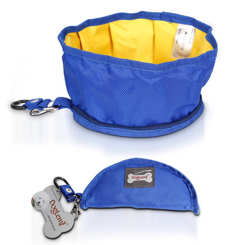 Image of Pet Portable Snack Bag Food Storage Bag Collapsible Dog Bowl Outdoor Travel Pet Bowl for Food and Water