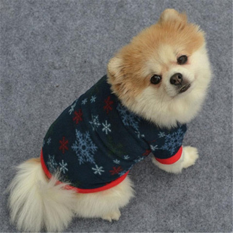 Image of Christmas Winter Dog and puppy clothes