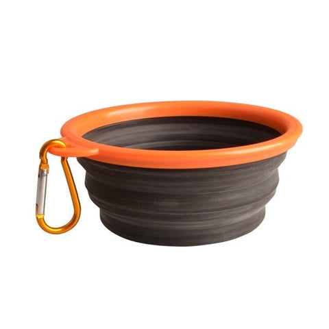 Image of Collapsible Silicone Pet Food and Water Bowl for Outdoor Travel Pet Dog Cat