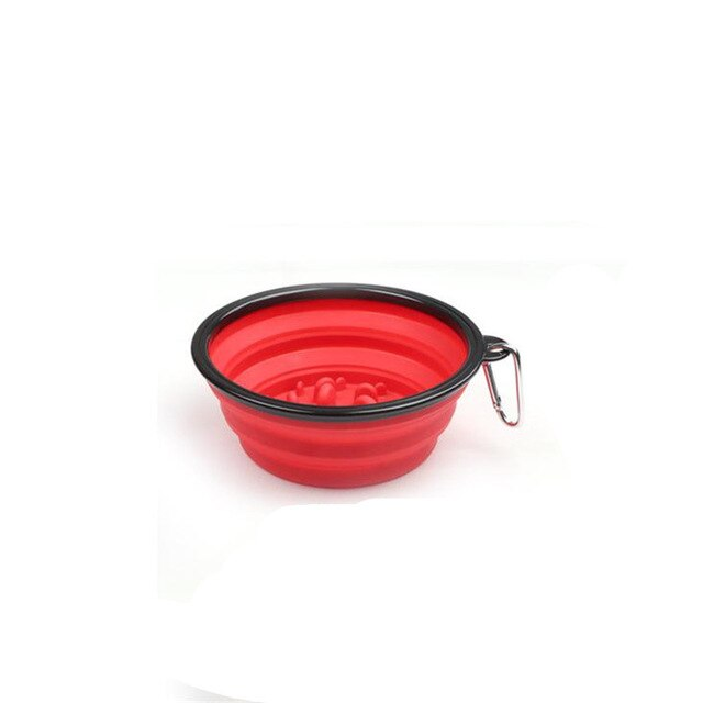 Pet Travel Bowl with Buckle Portable Foldable Cat Dog Food Water Feeding Outdoor Bowl Anti Choke Design