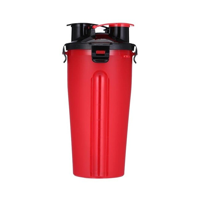 Portable Multifunctional Dog Food Water Bottle Upgrade 2 in 1 ABS Folding Outdoor  Food Grade Drinking Pet Dog Feeder Cat 7color
