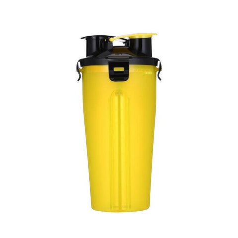 Image of Portable Multifunctional Dog Food Water Bottle Upgrade 2 in 1 ABS Folding Outdoor  Food Grade Drinking Pet Dog Feeder Cat 7color