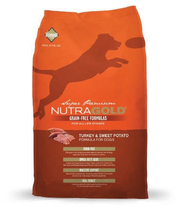 NutraGold Grain-Free - Turkey and Sweet Potato Caninie (Super Premium) (2.25kg)