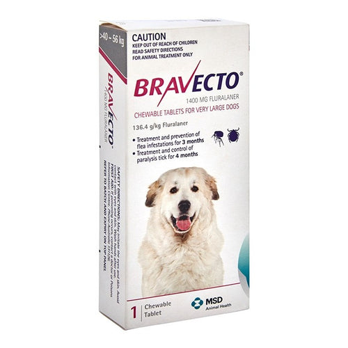 Bravecto Very Large Dog Pink 40-56Kg 1Pk