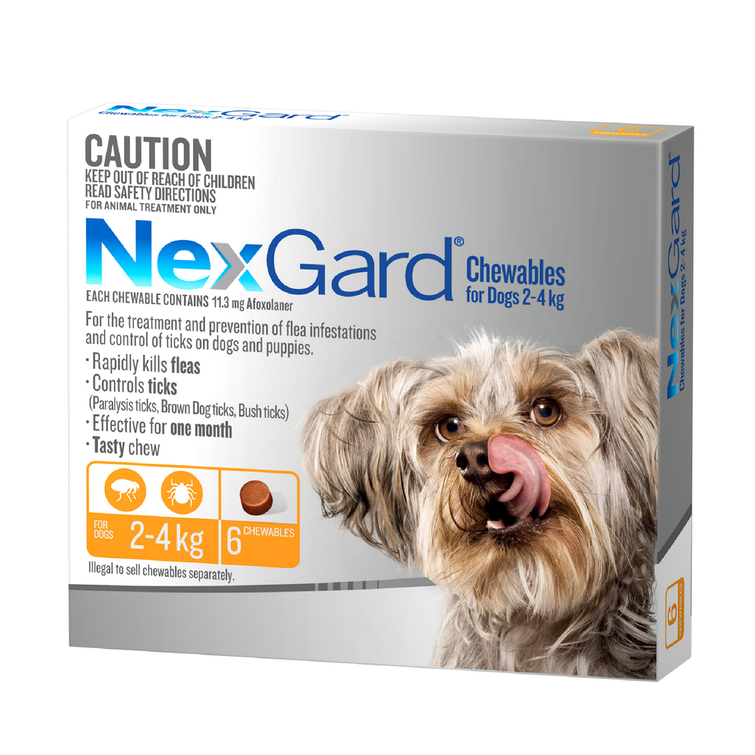 NexGard Chew Small (Orange) 2-4kg 6 Pack