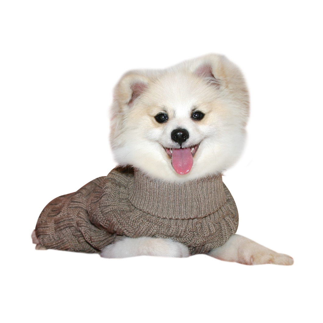 Dog Coat Komfyknit Jumper Icelandic 30cm Latte