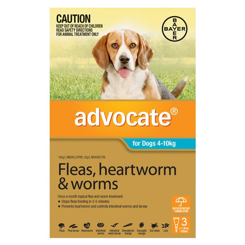 Advocate Dog Medium Blue 4-10Kg 3Pack