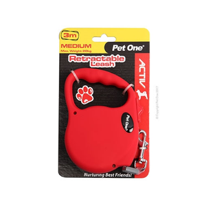 Retractable Leash 3M 20kg and under Rd