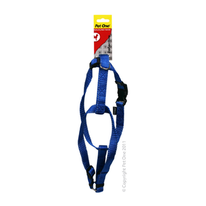 Harness Nylon Reflective Adjustable 35 to 50cm 20mm Blue