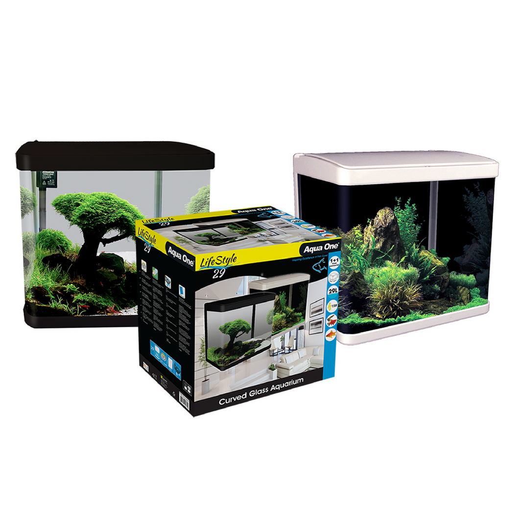 LifeStyle 29 Complete Glass Aquarium 38cm 29L Gloss Black