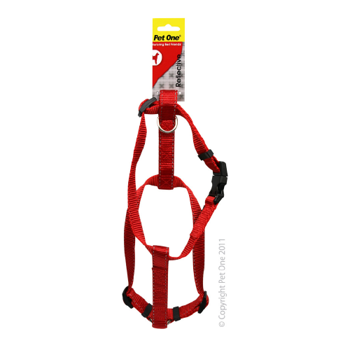 Harness Nylon Refl Adj 23 To 35Cm 15mm Red