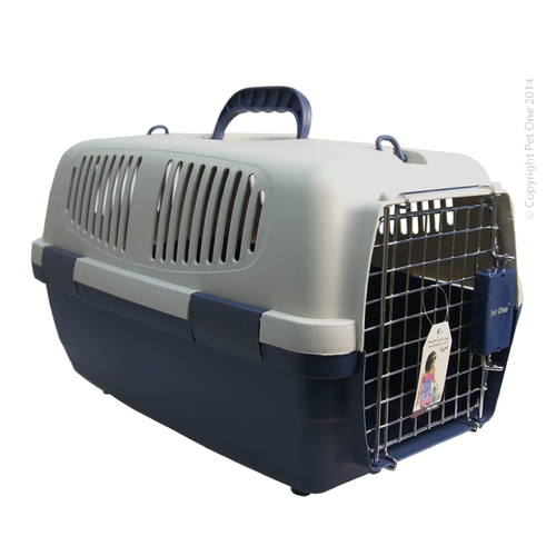 Plastic Pet Carrier Medium 56L x 36W x 34cm H