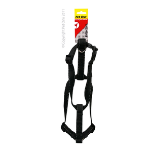 Harness Nylon Reflective Adjustable 35 to 50cm 20mm Black