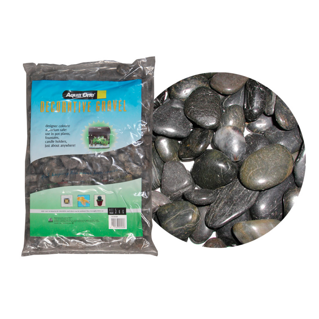 Decorative Gravel 5kg Natural Polished Stone Black