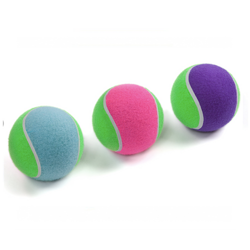 Sponge Tennis Ball Small 5cm Pink / Purple / Blue