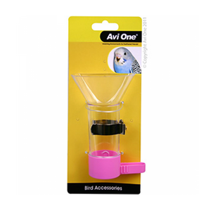 Bird Feeder Funnel Feeder with Metal Holder 12cm