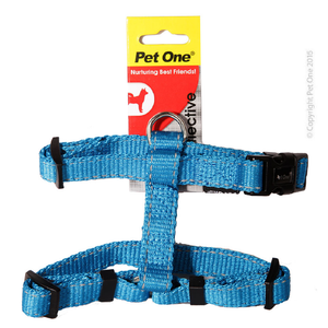 Harness Nylon Refl Adj 23 To 35 Cm 15mm Aqua
