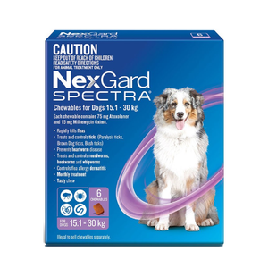 NexGard SPECTRA 15.1-30kg 6 Pack Purple