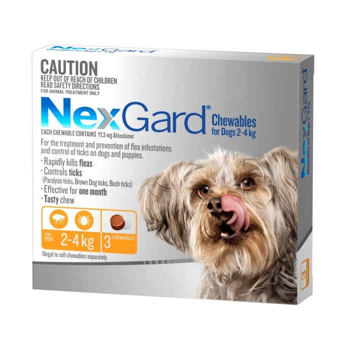 Nexgard Very Small Dog 2.0-4Kg 3 Pack