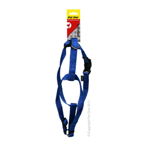 Harness Nylon Reflective Adjustable 40 to 65cm 25mm Blue