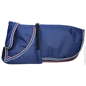 Dog Coat Blizzard 25cm H Duty W Proof Reflective Blue