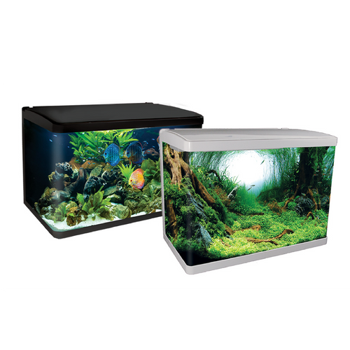LifeStyle 127 Complete Glass Aquarium 80cm 127L Gloss White