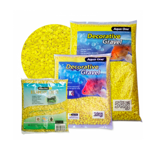 Decorative Gravel 2kg Fluro Yellow 7mm