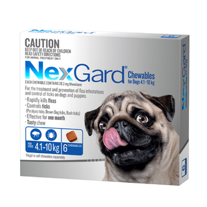 NexGard Chew Medium (Blue) 4.1-10kg 6 Pack