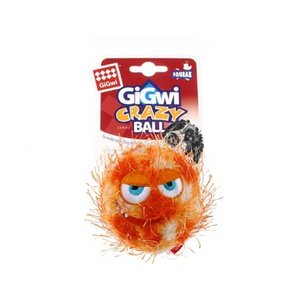 GiGwi Crazy Ball W/Squeaker Orange Medium