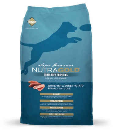 NutraGold Grain-Free - Whitefish and Sweet Potato Canine (Super Premium) (2.25kg)