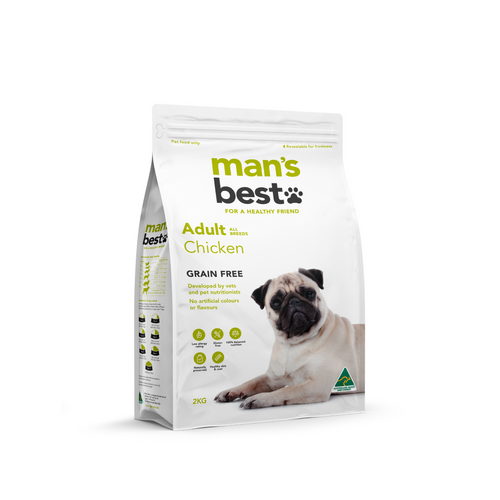 Mans Best Premium Adult Chicken Grain Free 2kg