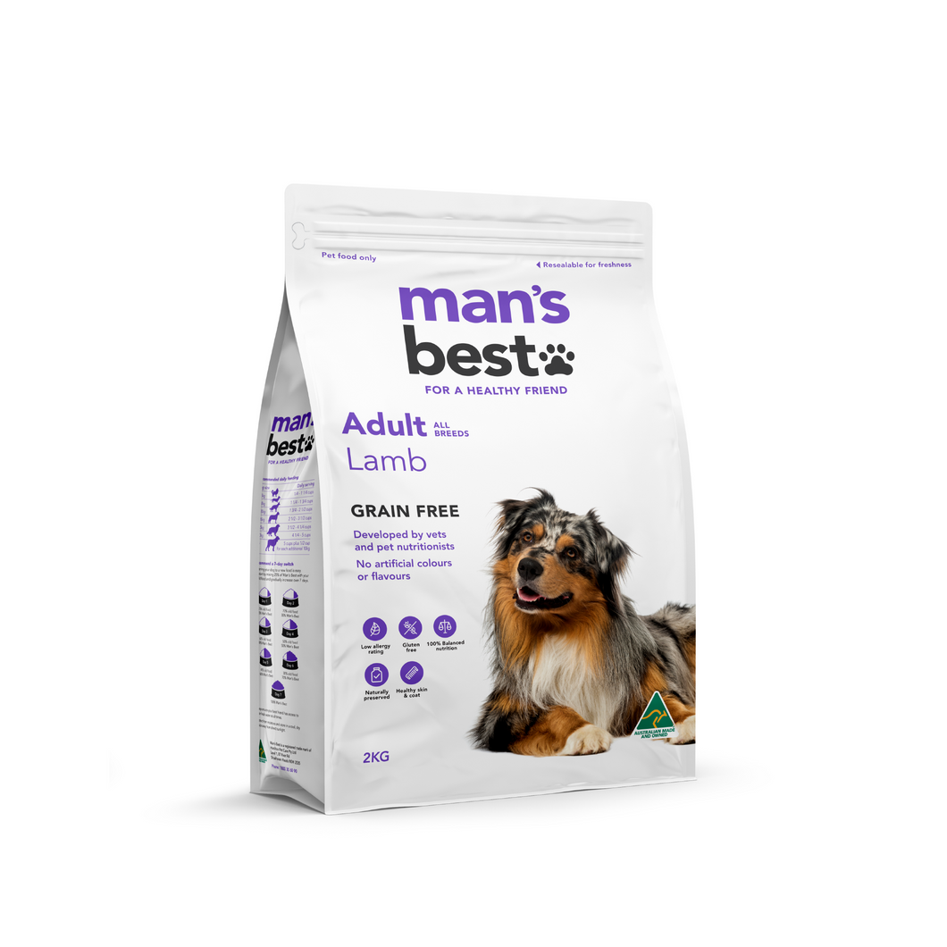Mans Best Premium Adult Lamb Grain Free 2kg
