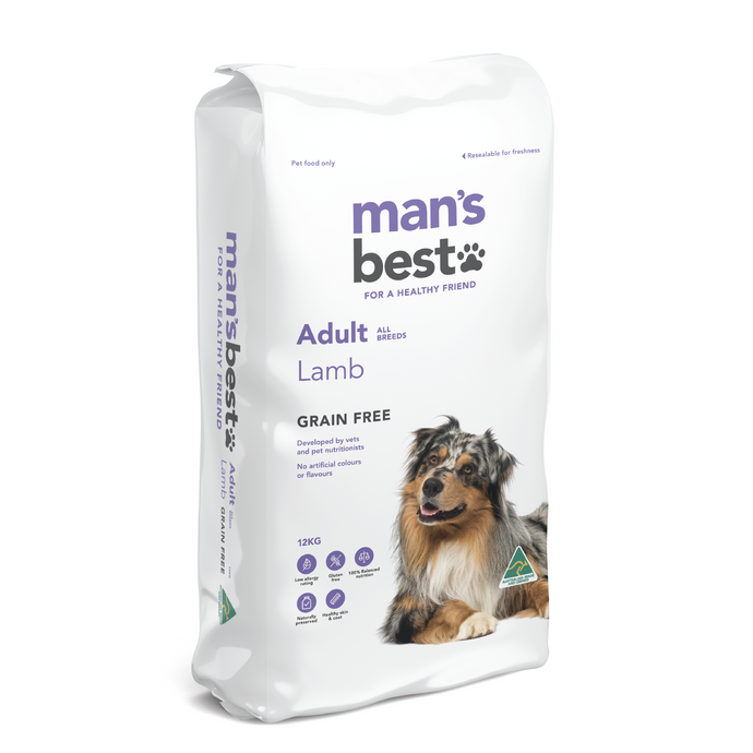 Mans Best Premium Adult Lamb Grain Free 12kg