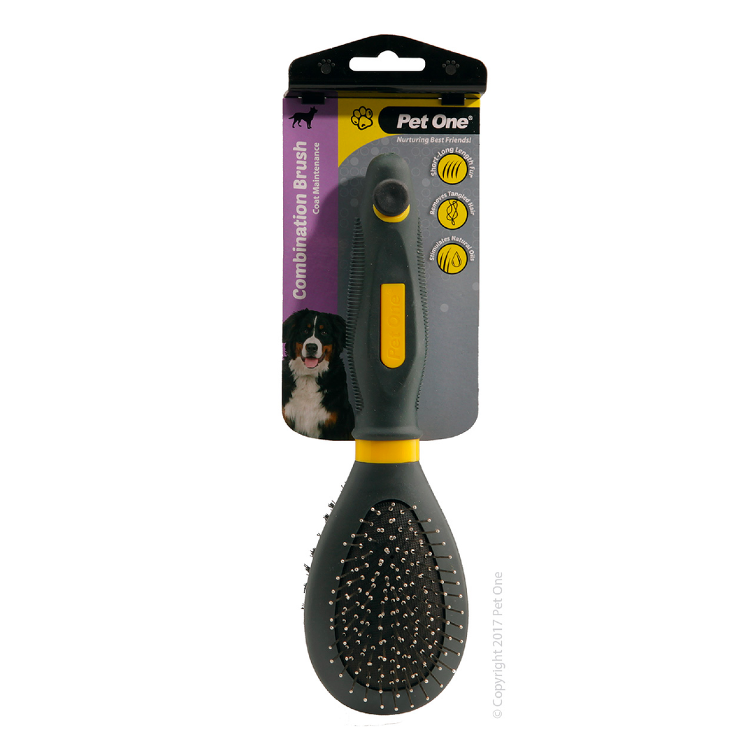 Grooming Combination Bristle & Metal Pin Brush Large
