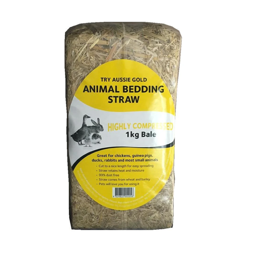 Small Animal Bedding Straw Hay Brick 1kg