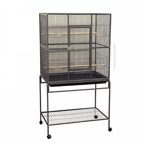 Cage 604X Square Flight Cage 82 X 52 X 154 Black