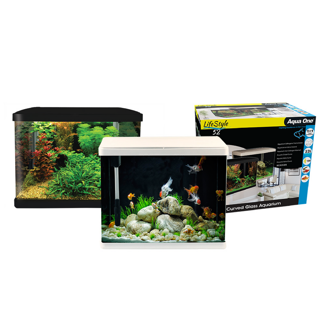 LifeStyle 52 Complete Glass Aquarium 51cm 52L Gloss Black