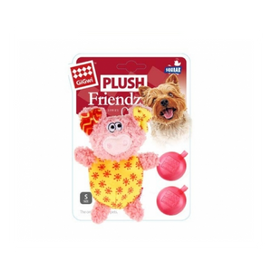 GiGwi Plush Pig with Squeaker Pink/Yellow