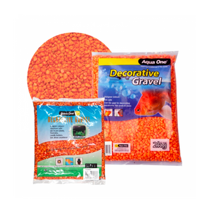 Decorative Gravel 2kg Fire Orange 7mm