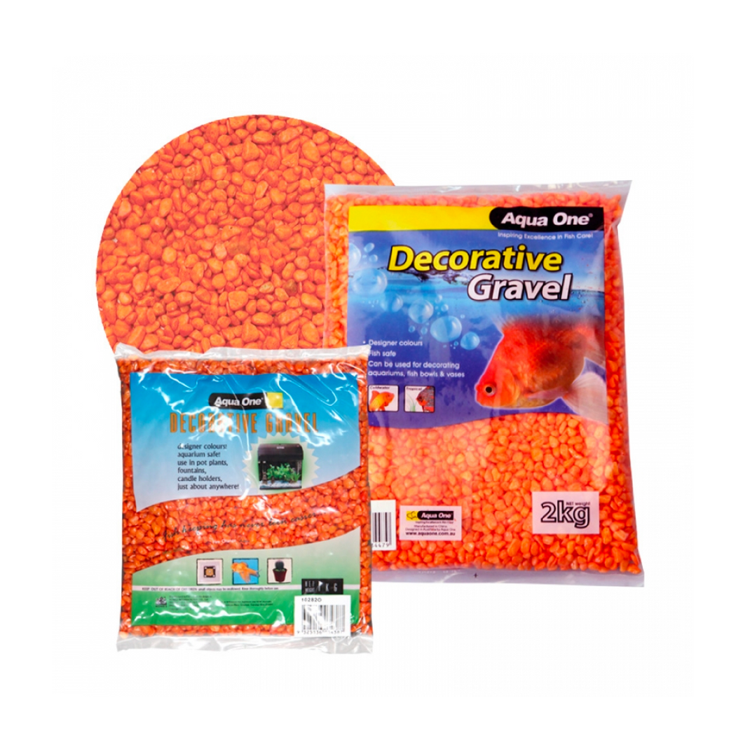 Decorative Gravel 1kg Fire Orange 7mm